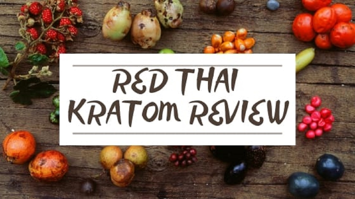Red Thai Kratom Review